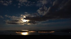 Moon over Bute and Arran