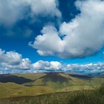 The ridge of Cruach nan Capull and summit od Cruach Neuran in the distance.