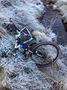Frozen bike on return